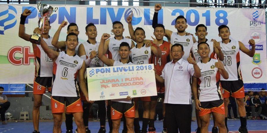 Tim Putra TNI AL dan Tim Putri Vita Solo Juarai Livoli Divisi 1