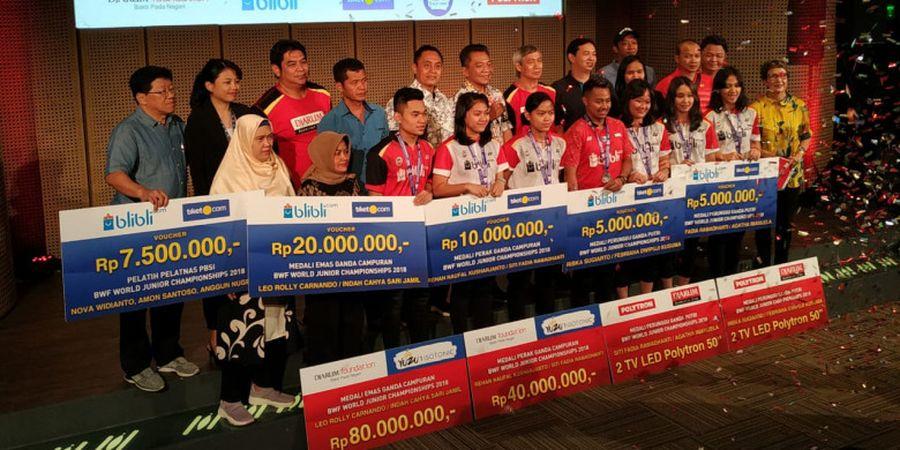 Raih Medali Kejuaraan Dunia Junior 2018, Leo/Indah dkk Diguyur Bonus dari Djarum Foundation