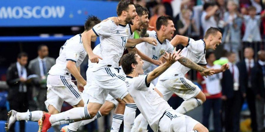 Drama Teror Sergio Ramos kepada Denis Cheryshev di Balik Kemenangan Rusia atas Spanyol