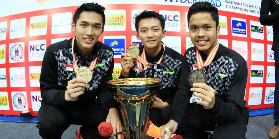 Kejuaraan Asia Beregu 2018 - Trio Tunggal Putra Indonesia Sukses Menang Telak pada Hari Pertama Lawan Maladewa