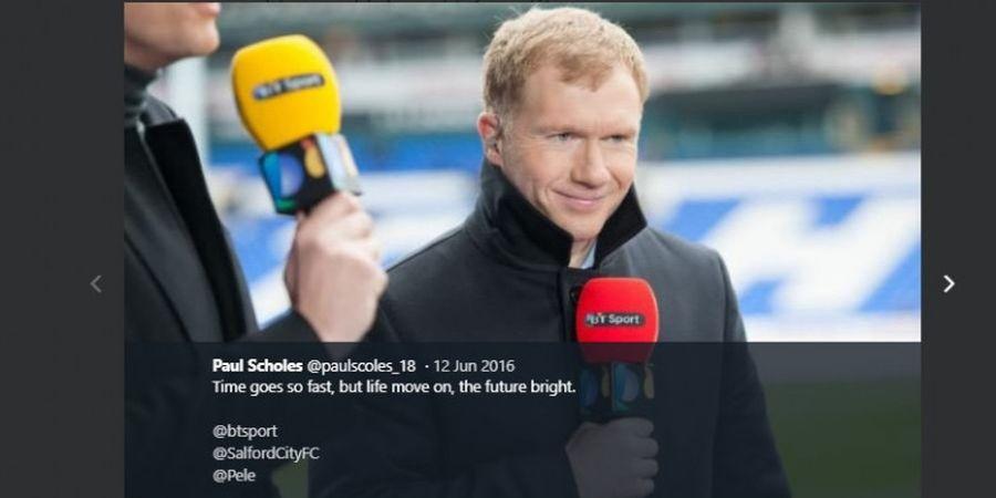 Saat Manchester United Tumbang di Old Trafford, Paul Scholes Pesta