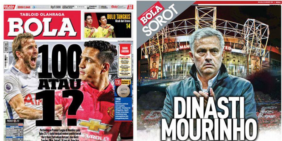 Tabloid BOLA Edisi Terbaru - Duel Harry Kane Vs Alexis Sanchez dan Dinasti Jose Mourinho