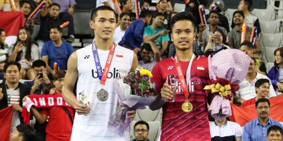 Rekor Pertemuan Anthony Ginting Vs Jonatan Christie Jelang Final Australian Open 2019
