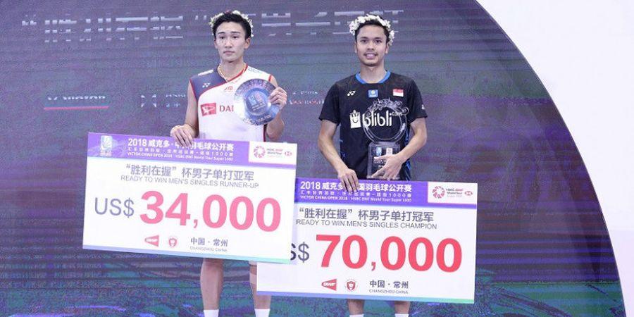Hasil Undian BWF World Tour Finals 2018 - Anthony Ginting Berbeda Grup dengan Kento Momota