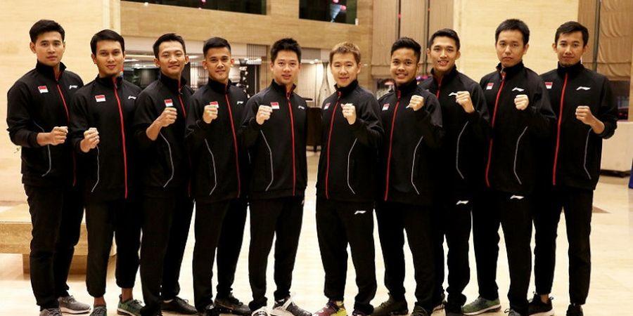 Susunan Pemain Tim Putra Indonesia Vs China pada Final Kejuaraan Beregu Asia 2018