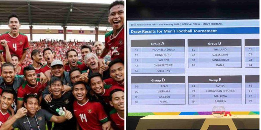 Inilah Hasil Pembagian Grup Sepakbola Asian Games 2018 Setelah Irak Mundur