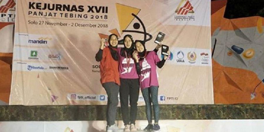 Kejurnas Panjat Tebing 2018 - Aries Susanti Rahayu Sabet Medali Emas Usai Menangi Ulangan Final Asian Games