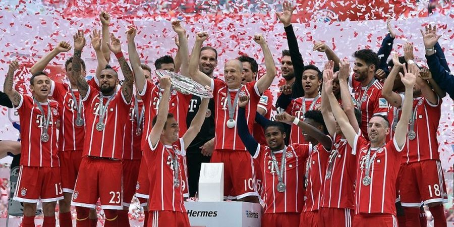 Rapor 2016-2017, Bayern Muenchen, Tetap Perkasa di Bundesliga