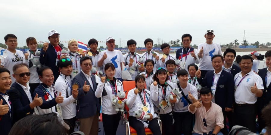 Dayung Asian Games 2018 - Awalnya Tak Tahu Perahu Naga, Tim Putri Korea Bersatu Justru Raih Medali Emas