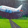Amankah Terbang Naik Pesawat Saat Sedang Turun Hujan?