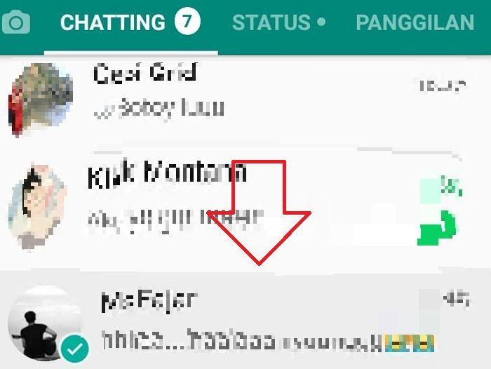 Menandai pesan whatsapp