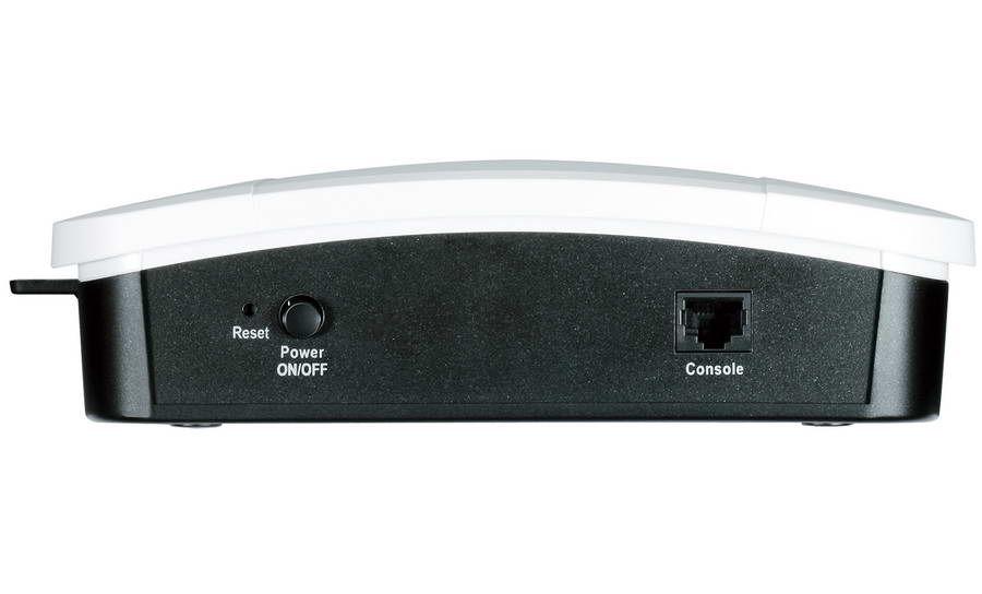 Terdapat port LAN yang berfungsi sebagai console untuk konfigurasi melalui terminal.