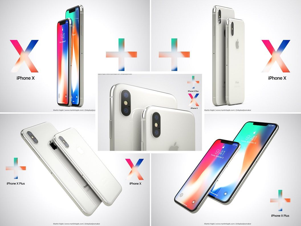 Ilustrasi iPhone X Plus