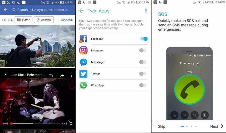 Dipesenjatai dengan Android Nougat 7.1.1 yang dipadu dengan user interface ZenUI 4.0, smartphone ini dilengkapi dengan berbagai fitur seperti dua tampilan dalam satu layar ataupun fitur panggilan darurat.