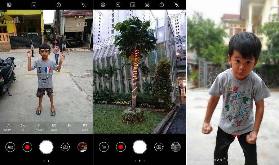 Aplikasi kamera menyediakan mode Pro untuk kamera utama serta mode Portrait yang bisa digunakan untuk menghasilkan foto dengan efek bokeh.