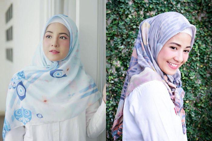Inspirasi Padu Padan Hijab Motif Ala Natasha Rizky Bisa Kamu Contek