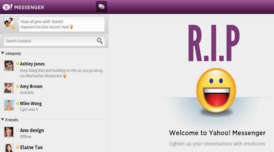Selamat Tinggal! Yahoo Messenger akan Berhenti Operasi 17 Juli 2018