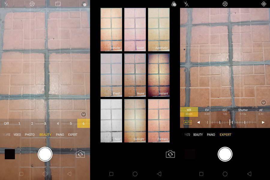 Oppo F5 menyediakan berbagai fitur pada aplikasi kameranya seperti AI Beautification,