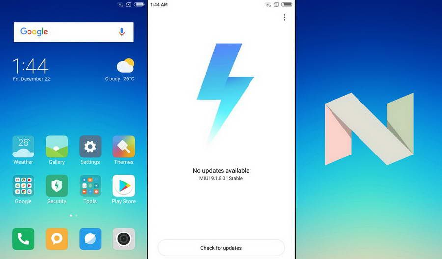 Menggunakan sistem operasi Android Nougat 7.1, Redmi 5A menjadi smartphone Xiaomi pertama di Indonesia yang sudah menjalankan MIUI 9.