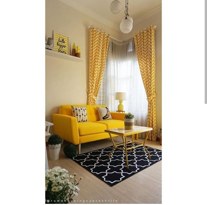 Ruang Tamu Kuning   Desainrumahid.com