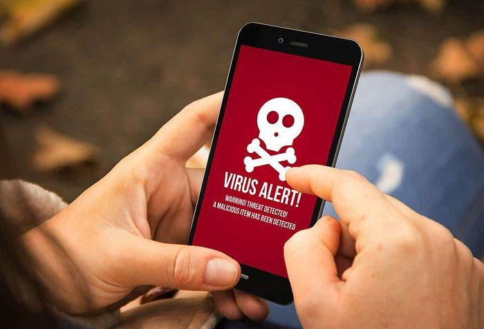 Ilustrasi virus smartphone