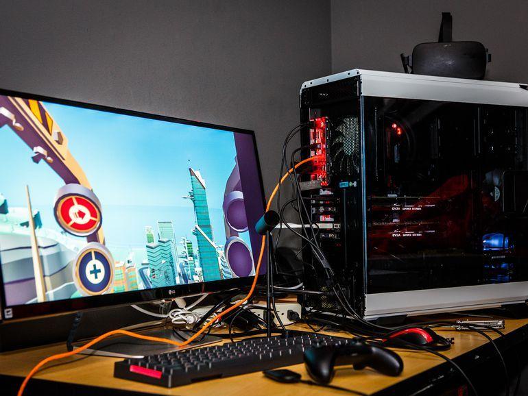 Ilustrasi Komputer PC desktop