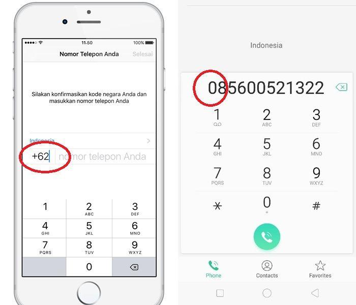 Berbeda Fungsi Ini Beda Kode 0 Dan 62 Pada Awal Nomor Telepon Semua Halaman Grid Id