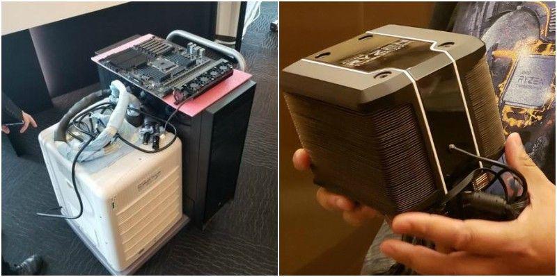 Beginilah perbandingan cooler yang digunakan Intel dan AMD pada pagelaran Computex 2018 kemarin. Int