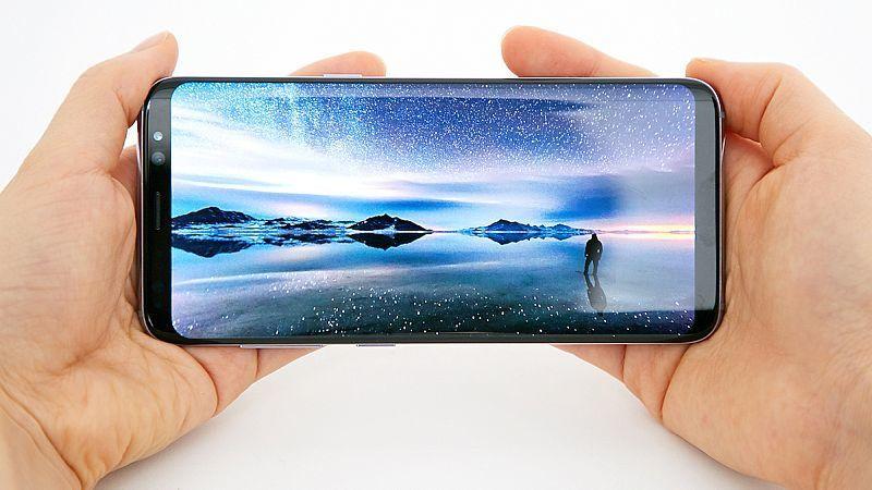Ilustrasi panel layar Samsung