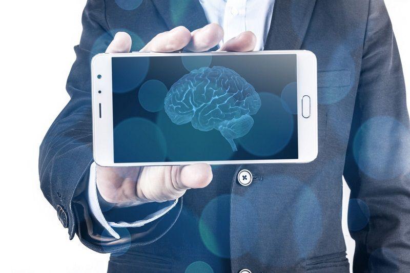 Ilustrasi kecerdasan buatan (AI) pada smartphone