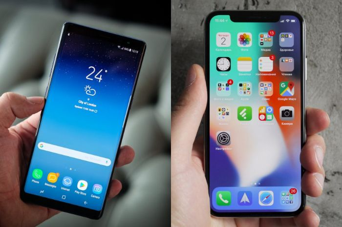 kolase Perbandingan galaxy note 9 dan iPhone X 1543ed0434