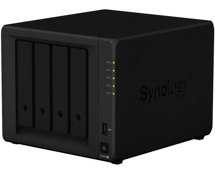 Synology DS918+ ditujukan untuk segmen bisnis skala kecil sampai menengah dengan kebutuhan kapasitas yang besar.