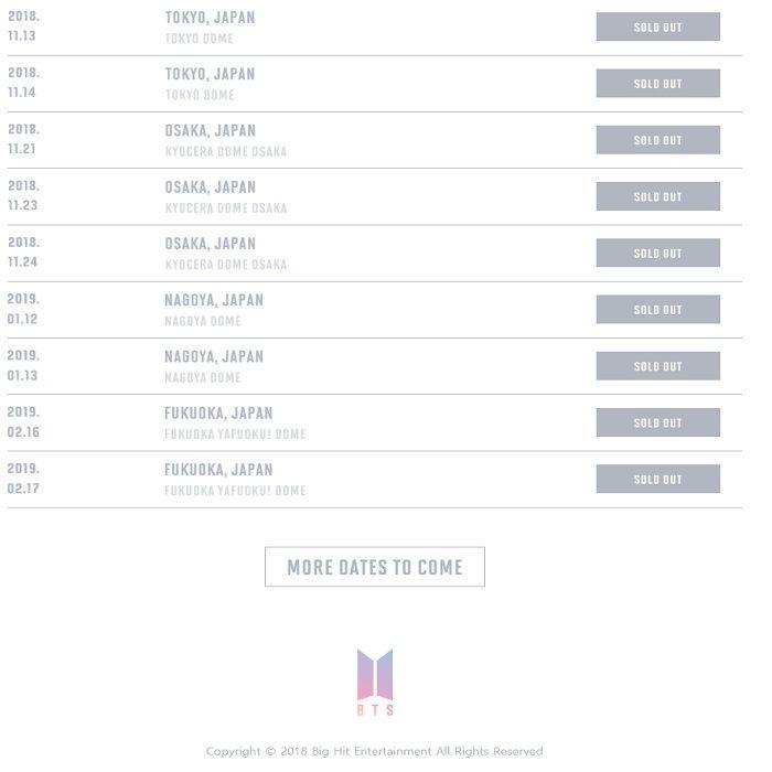 Tiket 9 Konser Bts Di Jepang Sudah Sold Out Lihat Jumlah