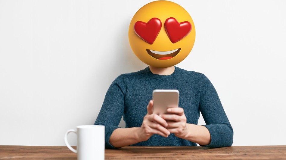Ilustrasi emoji di Instagram