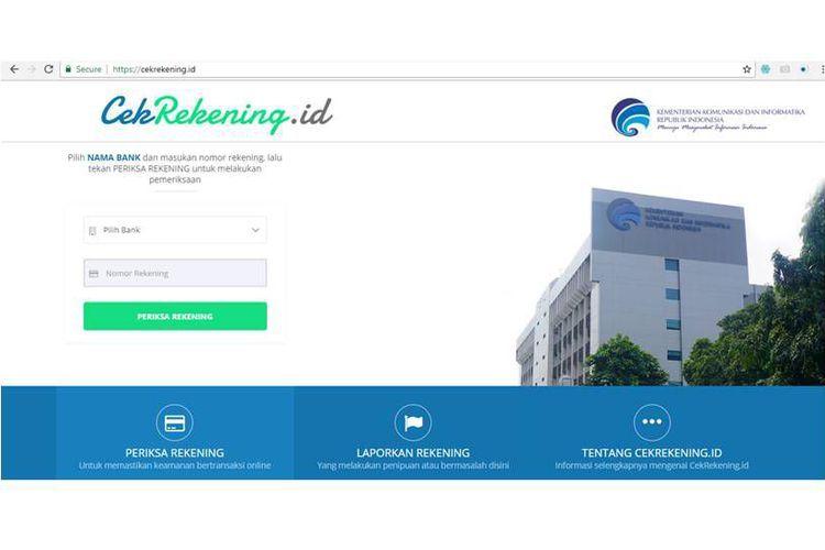 Pemerintah luncurkan situs CekRekening.id untuk cegah penipuan perbankan di dunia maya