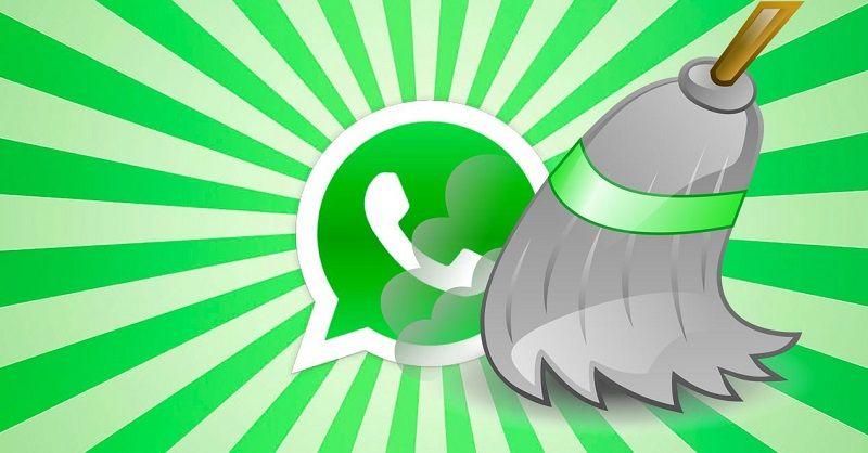 Ilustrasi WhatsApp Cleaner pada Antar Muka Xiaomi MIUI 10