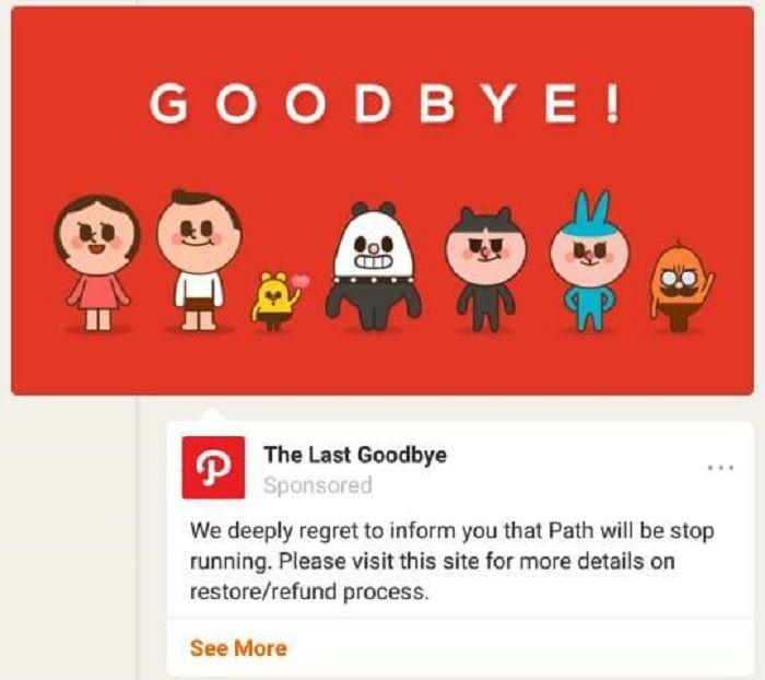 Path tutup dan hentikan operasi layanannya