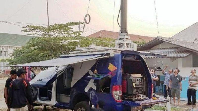 Ilustrasi mobile BTS XL Axiata