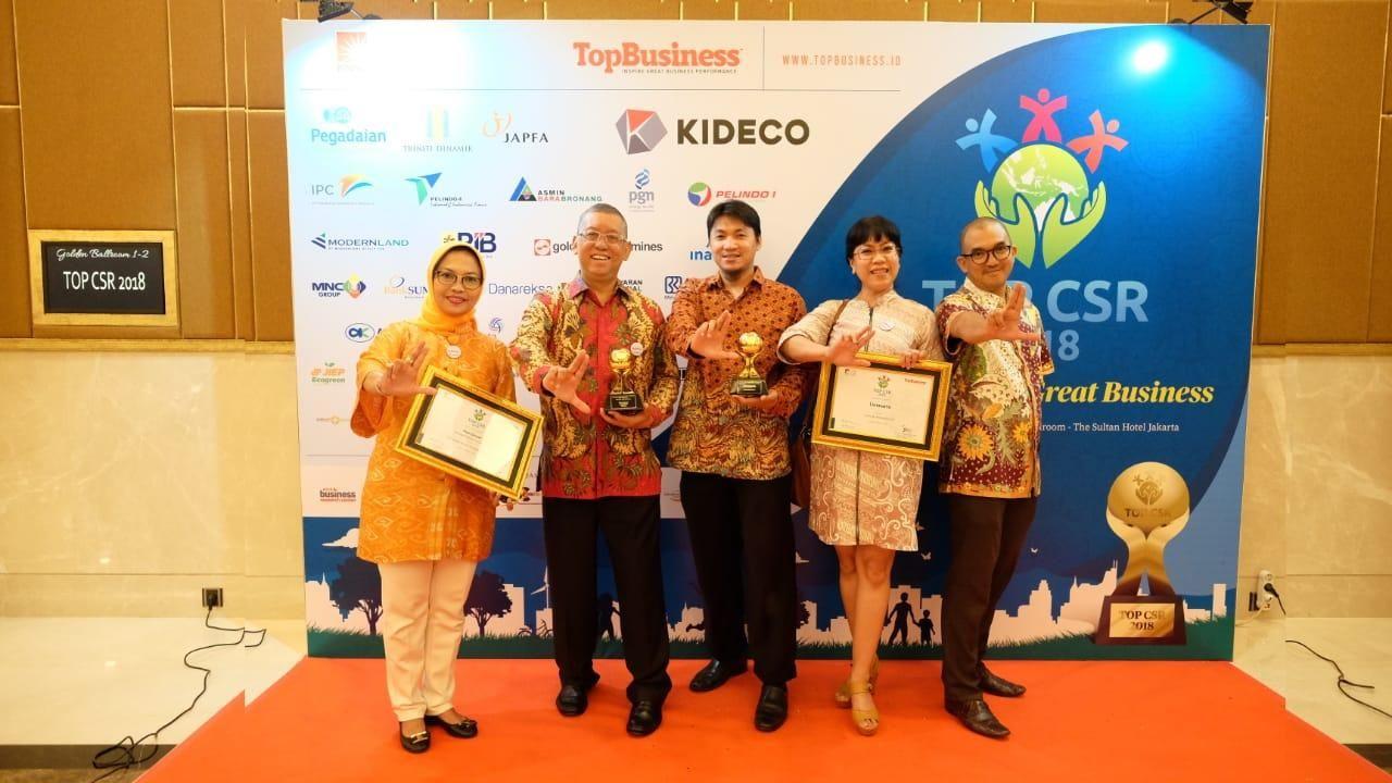 Lintasarta perusahaan penyedia layanan total solution bidang Information and Communication Technologies  (ICT), meraih penghargaan Top Corporate Social Responsibility (CSR) 2018 dari Top Business.