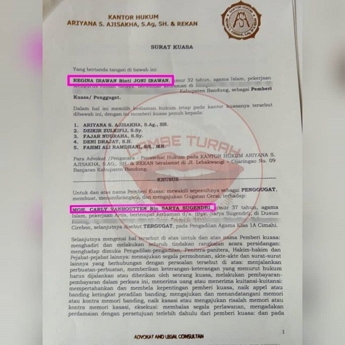 Surat Cerai Dari Pengadilan