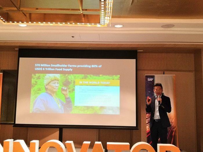David Tan, Founder & CEO, CrowdFarmX di acara SAP Powering Customer Success