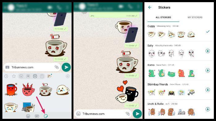 Cara Pakai Stiker Whatsapp Tanpa Aplikasi Tambahan Mudah Kok Semua Halaman Nextren Grid Id