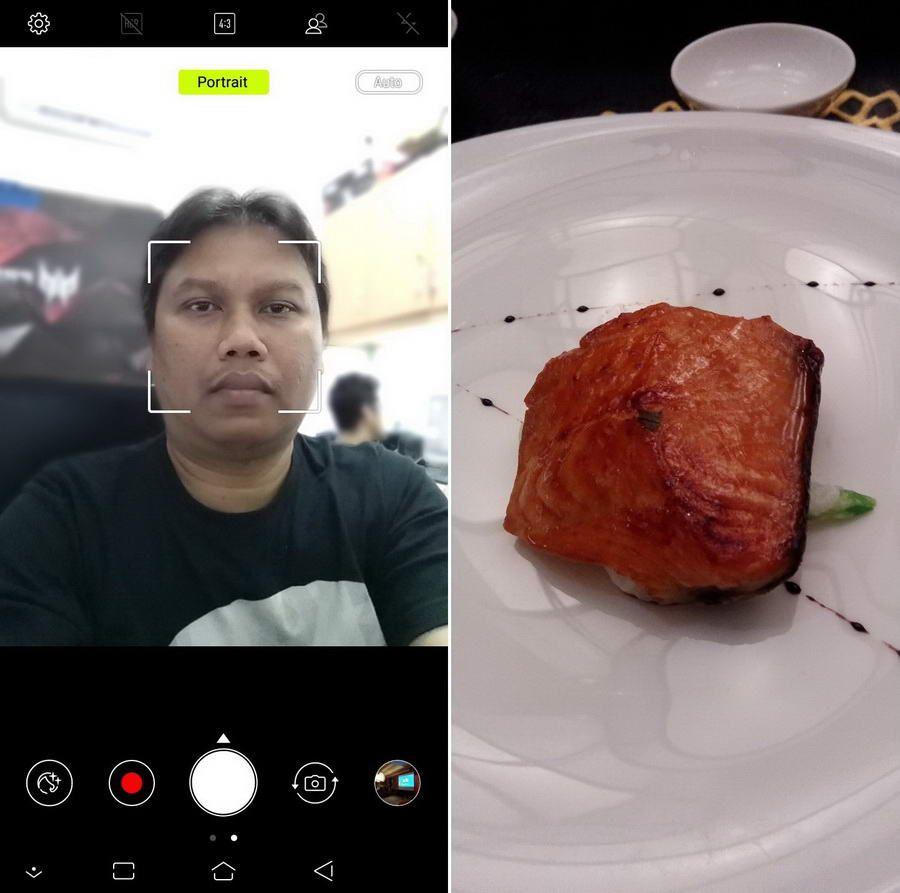 Kamera utama dan depan sama-sama bisa menghasilkan foto dengan bokeh melalui pengaktifan pilihan Portrait.