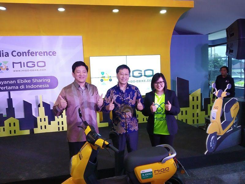 Ilustrasi layanan penyewaan sepeda listrik Migo e-Bike