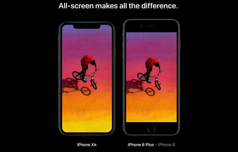 iPhone XR dan iPhone 8 Plus