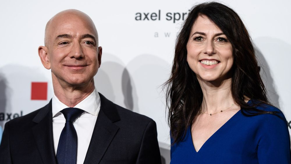 Mandatory Credit: Photo by Clemens Bilan/EPA-EFE/REX/Shutterstock (9641193h)Amazon CEO Jeff Bezos (L) and and his wife MacKenzie attend the Axel Springer Award 2018, in Berlin, Germany, 24 April 2018. Amazon CEO Bezos, who also owns US newspaper 'Washington Post', is awarded with the Axel Springer Award. Axel Springer SE is one of the largest digital publishing houses in Europe and owner of numerous multimedia news brands.Jeff Bezos receives the Axel Springer Award, Berlin, Germany - 24 Apr 2018