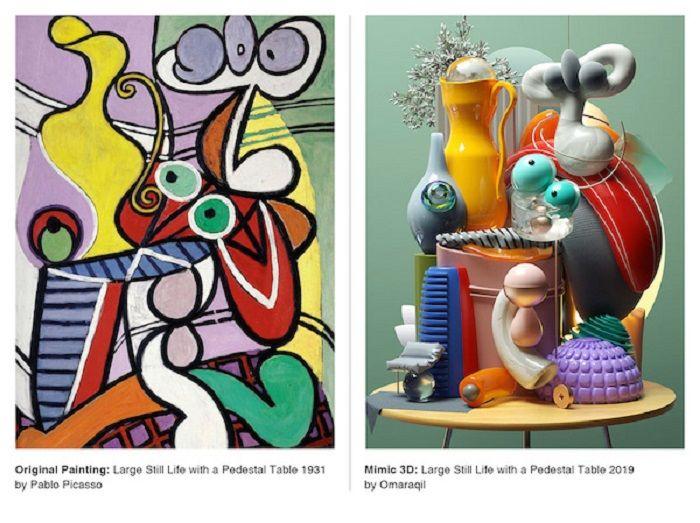 Seniman Ini Ubah Lukisan Picasso Jadi Ilustrasi 3d Wow Keren Abis Semua Halaman Hai