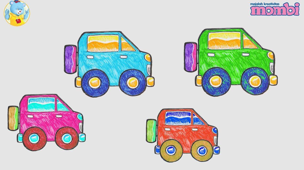 Cara Gambar Mobil Dari Bentuk Segitiga Lingkaran Dan