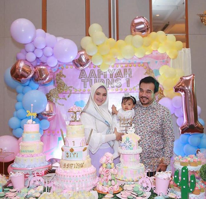 Intip Mewahnya Ulang Tahun Putri Cantik Siti Nurhaliza Ada