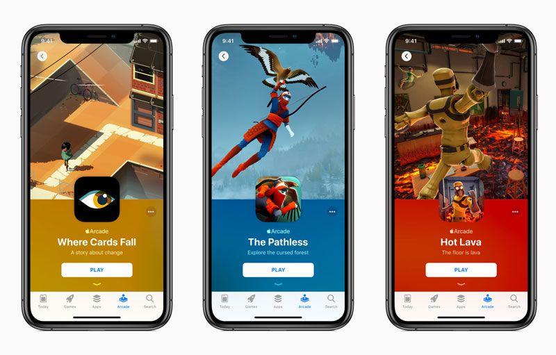 Tampilan Apple Arcade di iPhone